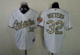 Baltimore Orioles #32 Matt Wieters White USMC Cool Base Stitched MLB Jersey