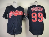Cleveland Indians #99 ricky vaughn Navy Blue Cool Base Stitched MLB Jersey
