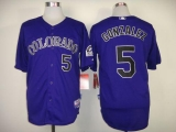 Colorado Rockies #5 Carlos Gonzalez Purple Cool Base Stitched MLB Jersey