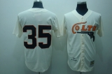 Mitchell and Ness Colts #35 Joe Morgan Stitched Cream Throwback MLB Jersey