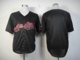 Cleveland Indians Blank Black Fashion Stitched MLB Jersey