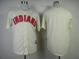 Cleveland Indians Blank Cream Cool Base Stitched MLB Jersey