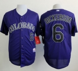 Colorado Rockies #6 Corey Dickerson Purple Cool Base Stitched MLB Jersey