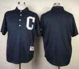 Cleveland Indians Blank Navy Blue 1902 Turn Back The Clock Stitched MLB Jersey