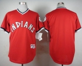 Cleveland Indians Blank Red 1974 Turn Back The Clock Stitched MLB Jersey