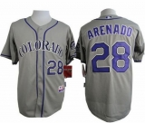 Colorado Rockies #28 Nolan Arenado Grey Cool Base Stitched MLB Jersey