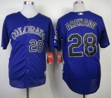 Colorado Rockies #28 Nolan Arenado Purple Cool Base Stitched MLB Jersey