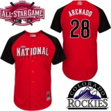 Colorado Rockies #28 Nolan Arenado Red 2015 All-Star National League Stitched MLB Jersey