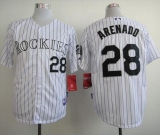 Colorado Rockies #28 Nolan Arenado White Cool Base Stitched MLB Jersey