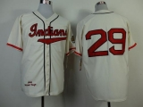 Mitchell and Ness 1948 Cleveland Indians #29 Satchel Paige Cream Throwback Stitched MLB Jersey