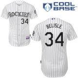 Colorado Rockies #34 Matt Belisle White Cool Base Stitched MLB Jersey
