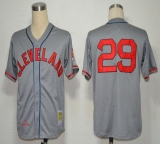 Mitchell And Ness 1948 Cleveland Indians #29 Satchel Paige Grey Stitched MLB Jersey
