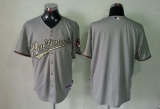 Baltimore Orioles Blank Grey USMC Cool Base Stitched MLB Jersey