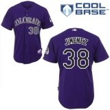 Colorado Rockies #38 Ubaldo Jimenez Purple Cool Base Stitched MLB Jersey