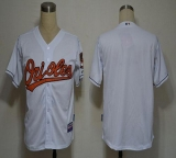 Baltimore Orioles Blank White Cool Base Stitched MLB Jersey