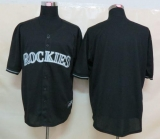 Colorado Rockies Blank Black Fashion Stitched MLB Jersey
