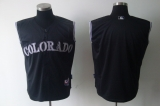 Colorado Rockies Blank Black Vest Style Stitched MLB Jersey