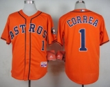 Houston Astros #1 Carlos Correa Orange Cool Base Stitched MLB Jersey
