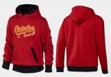 Baltimore Orioles Pullover Hoodie Red & Black