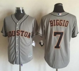 Houston Astros #7 Craig Biggio Grey New Cool Base Stitched MLB Jersey