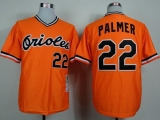 Mitchell And Ness 1982 Baltimore Orioles #22 Jim Palmer Orange Throwback Stitched MLB Jersey