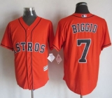 Houston Astros #7 Craig Biggio Orange New Cool Base Stitched MLB Jersey