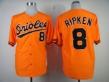 Mitchell And Ness 1989 Baltimore Orioles #8 Cal Ripken Orange Throwback Stitched MLB Jersey