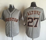 Houston Astros #27 Jose Altuve Grey New Cool Base Stitched MLB Jersey