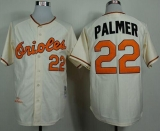 Mitchell And Ness 1989 Baltimore Orioles #22 Jim Palmer Cream Throwback Stitched MLB Jersey
