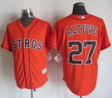 Houston Astros #27 Jose Altuve Orange New Cool Base Stitched MLB Jersey