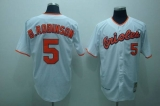 Mitchell and Ness Baltimore Orioles #5 Brooks Robinson Stitched White Throwback MLB Jersey