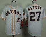 Houston Astros #27 Jose Altuve White Cool Base Stitched MLB Jersey