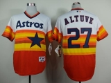 Houston Astros #27 Jose Altuve White Orange 1980 Turn Back The Clock Stitched MLB Jersey
