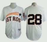 Houston Astros #28 Jon Singleton White 1965 Turn Back The Clock Stitched MLB Jersey