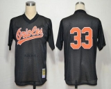 Mitchell and Ness Baltimore Orioles #33 Eddie Murray Throwback Black Stitched MLB Jersey