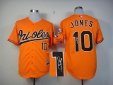 MLB Baltimore Orioles #10 Adam Jones Stitched Orange Autographed Jersey