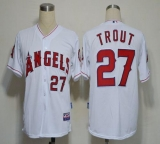 Los Angeles Angels of Anaheim #27 Mike Trout White Cool Base Stitched MLB Jersey