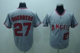 Los Angeles Angels of Anaheim #27 Vladimir Guerrero Stitched Grey MLB Jersey