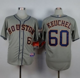 Houston Astros #60 Dallas Keuchel Grey Cool Base Stitched MLB Jersey