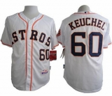 Houston Astros #60 Dallas Keuchel White Cool Base Stitched MLB Jersey