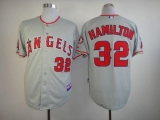 Los Angeles Angels of Anaheim #32 Josh Hamilton Grey Cool Base Stitched MLB Jersey
