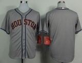 Houston Astros Blank Grey Cool Base Stitched MLB Jersey