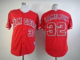 Los Angeles Angels of Anaheim #32 Josh Hamilton Red Cool Base Stitched MLB Jersey