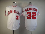 Los Angeles Angels of Anaheim #32 Josh Hamilton White Cool Base Stitched MLB Jersey