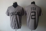 Mitchell and Ness 1960 Chicago Chicago White Sox #2 Nellie Fox Grey Throwback Stitched MLB Jerseys