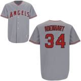 Los Angeles Angels of Anaheim #34 Nick Adenhart Stitched Grey MLB Jersey