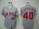 Los Angeles Angels of Anaheim #40 Kevin Jepsen Grey Cool Base Stitched MLB Jersey