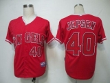 Los Angeles Angels of Anaheim #40 Kevin Jepsen Red Cool Base Stitched MLB Jersey