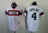 Mitchell And Ness 1983 Chicago White Sox #4 Luke Appling White Throwback Stitched MLB Jersey
