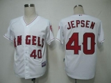 Los Angeles Angels of Anaheim #40 Kevin Jepsen White Cool Base Stitched MLB Jersey